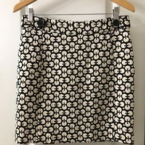 Banana Republic Geo Print Jacquard Skirt 6